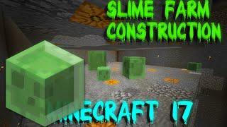 Slime Farm Construction/Caving! | Minecraft Vanilla 1.8 Survival Ep. 17