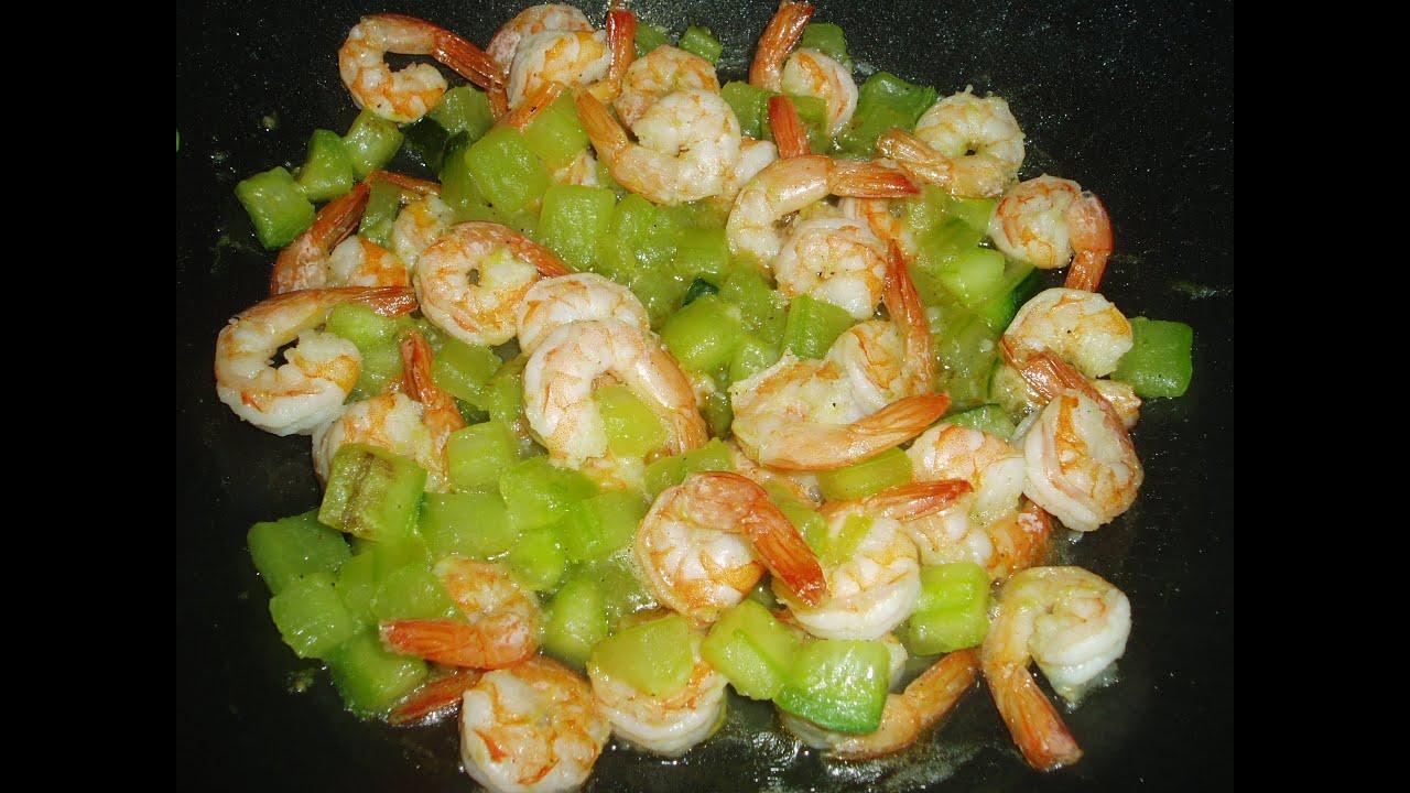 Recette de cuisine au wok crevettes au concombre une - Recettes cuisine regime mediterraneen ...