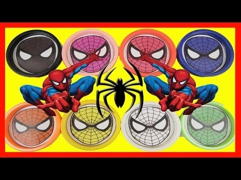 Spiderman Colors with Paw Patrol Rubble, Batman, Play-Doh, Disney Jr Toys
