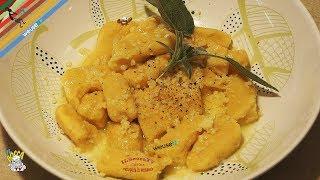 259 - Gnocchi di ricotta burro e salvia..anche senza la tovaglia! (primo piatto vegetariano facile)