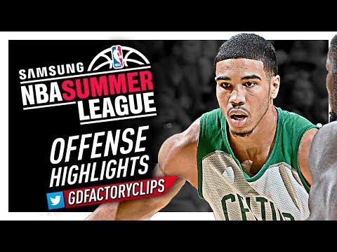 Jayson Tatum 2017 Summer League Offense Highlights - Boston Celtics Debut!