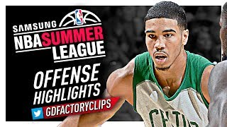 Jayson Tatum 2017 Summer League Offense Highlights - Boston Celtics Debut!