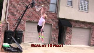 13 Year Old Dunks on 10 Feet