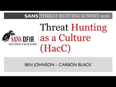 Keynote: Threat Hunting as a Culture (HaaC)