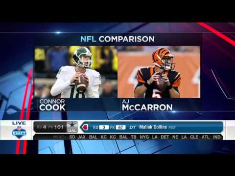 2016 NFL Draft Rd 4 Pk 100 | Oakland Raiders Select QB Connor Cook