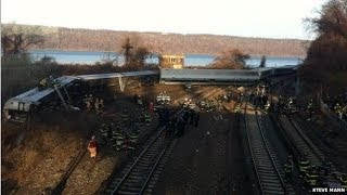 Metro North Train Derails in Bronx Area of New York City