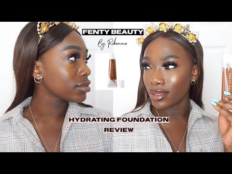 FENTY BEAUTY Hydrating Foundation Review | For Dry And Dark Skin #450
