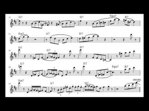Adrian Cunningham On C Jam Blues (w/ Wycliffe Gordon)