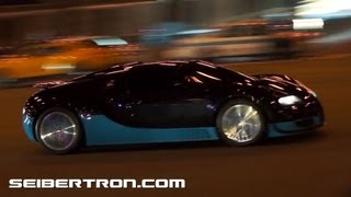 Transformers 4 filming in Chicago - Autobots on Columbus Drive under Randolph