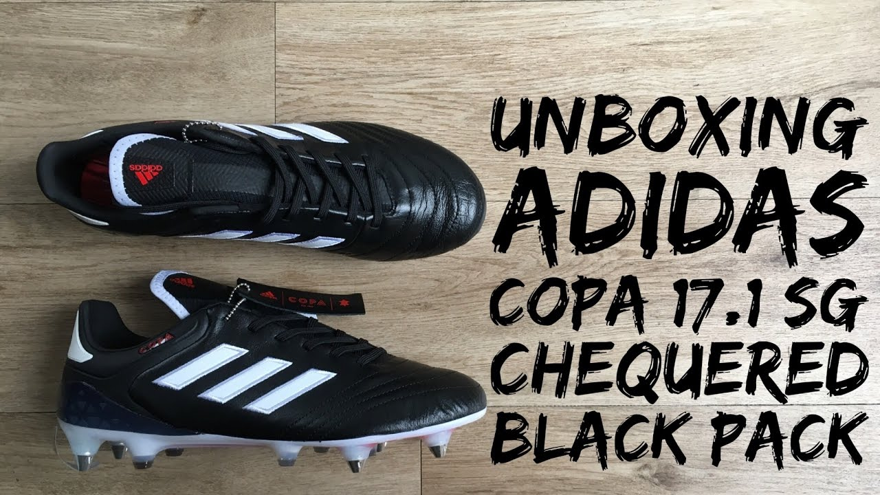 new style 9ef7a 46c3a Adidas Copa 17.1 SG CHEQUERED BLACK PACK  UNBOXING  football boots   2017  HD