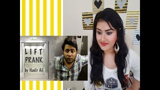 P 4 PAKAO |Lift Prank| By |Nadir Ali| Time Kiya Horaha Hai Prank| In P4PAKAO| REACTION by DESI GIRL|