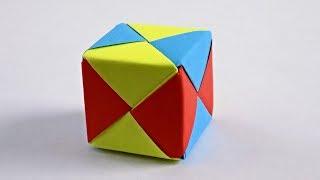 Как сделать кубик из бумаги схема поэтапно | оригами кубик