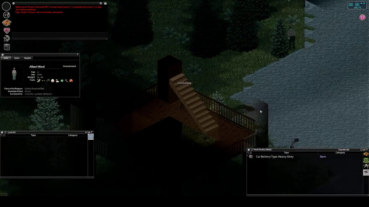 Project Zomboid Drunks Server Discovering Maps East Muldraugh Nature Reserve