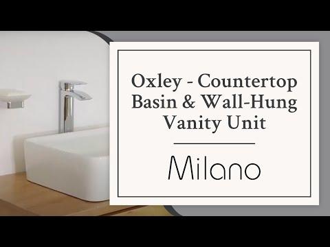 Milano Oxley Countertop Basin & Wall Hung Vanity Unit