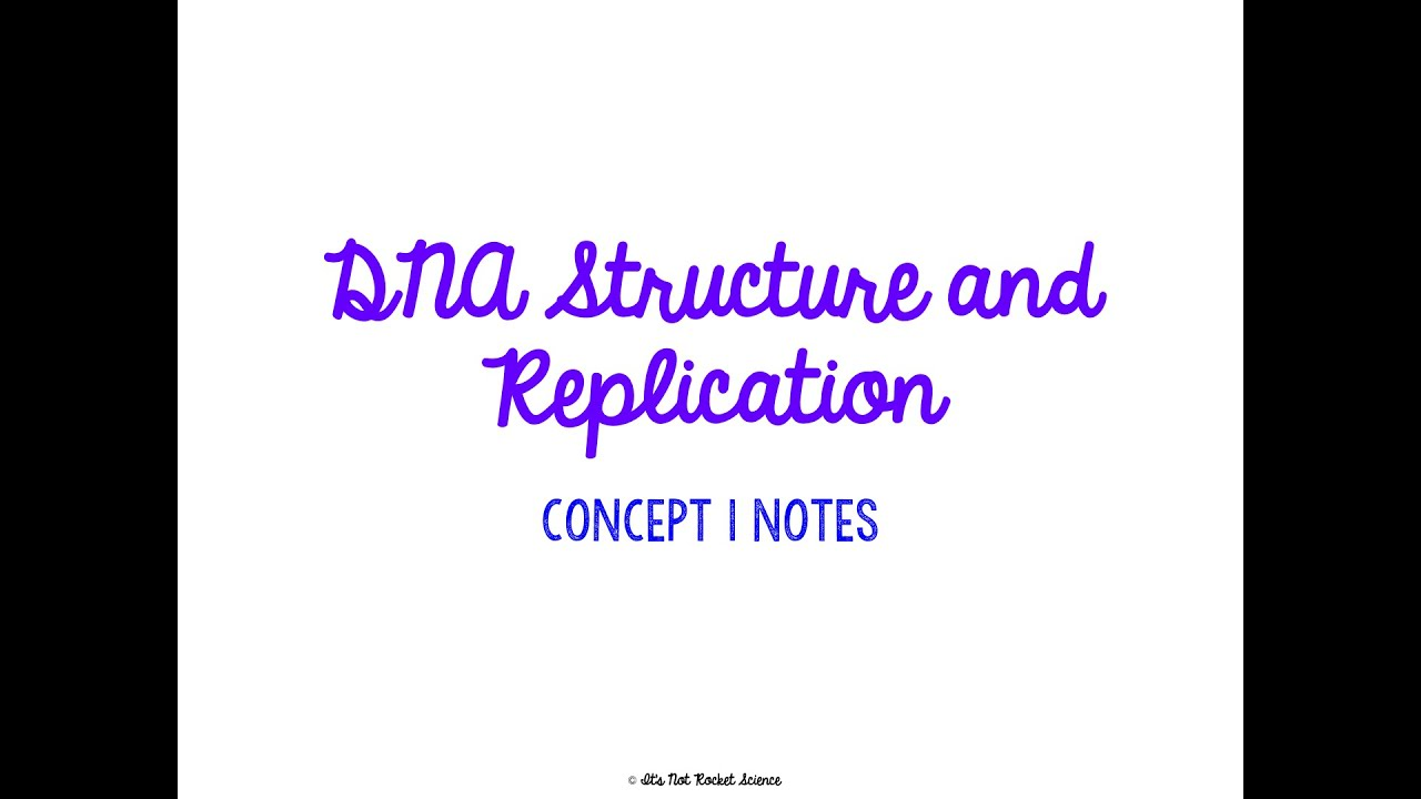 Unit 4 Genetics Concept 1 Notes Youtube