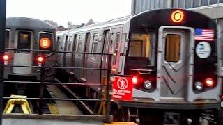 [MTA]: Astoria Ditmars Boulevard Bound R160-B Siemens (Q) Train Departing @ Ocean Parkway