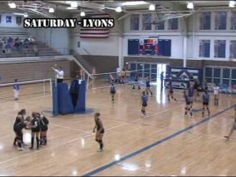 8-29-09 High School Volleyball @ Lyons, Kansas