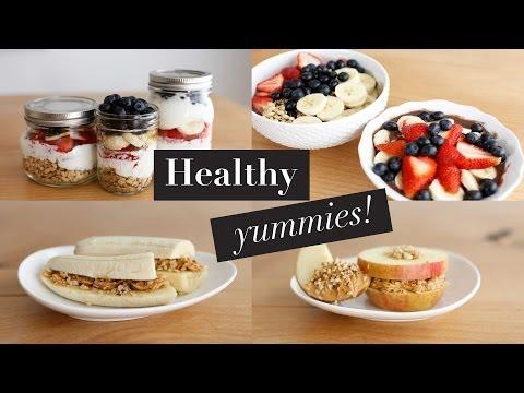 Get 3 Simple Healthy Breakfast Snacks | Acai Bowl & Fruit Sandwiches | ANN LE Snapshots