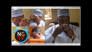 Photos: Ex-Plateau state governor, Joshua Dariye, weeps as court sentences him to 14 years imprison