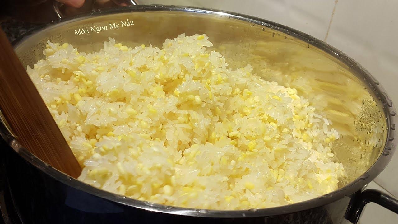 Cách Nấu XÔI ĐẬU XANH Nước Cốt Dừa | Đậu Mềm Xôi Dẻo Khô