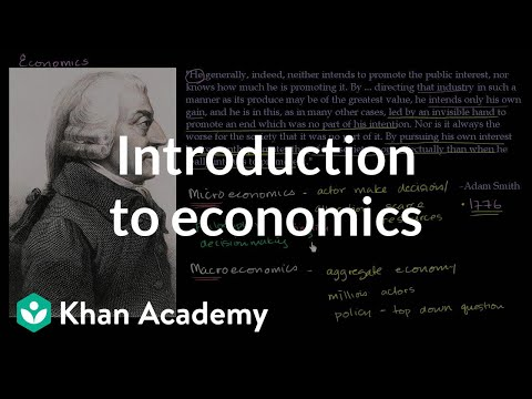 Introduction to economics | Supply, demand, and market equilibrium | Microeconomics | Khan Academy