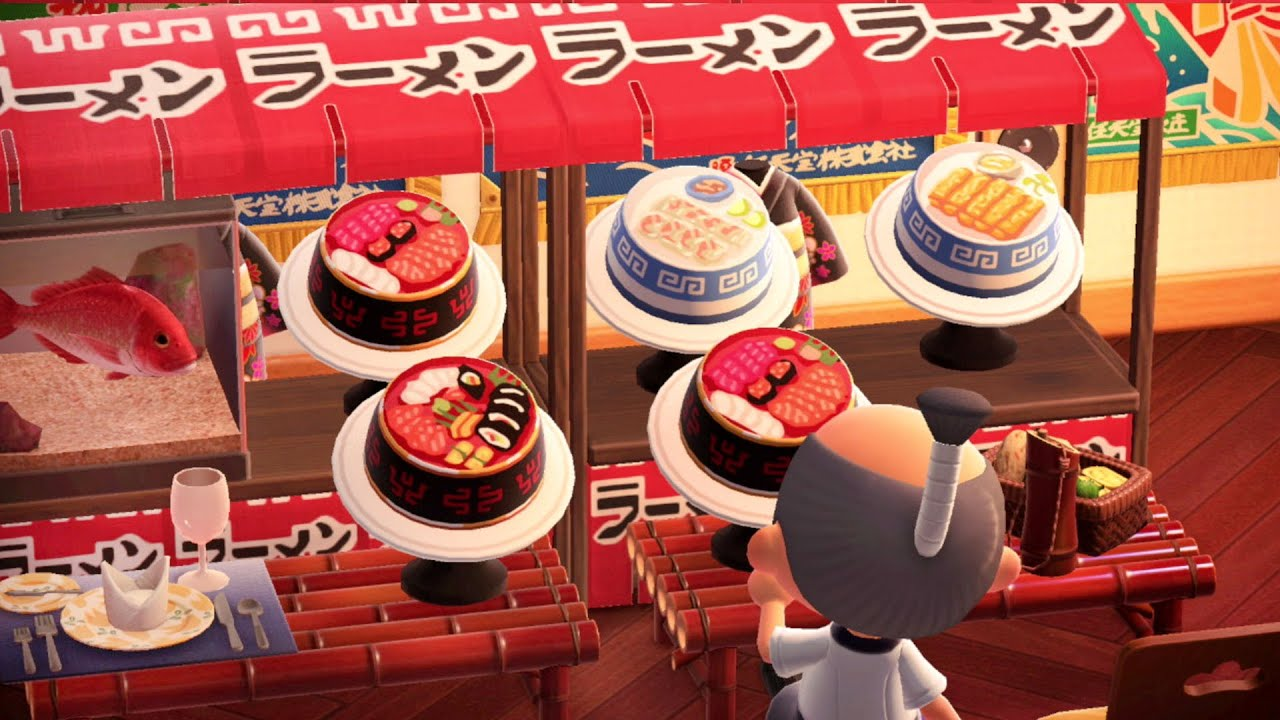 Boardwalk Bazaar Design Sushi Buffet Animal Crossing New Horizons Design Ideas Youtube