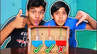 DON'T Choose the DEATH STRAW Challenge!! (MYSTERY DRINK)