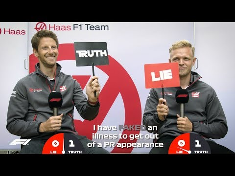 Haas Romain Grosjean and Kevin Magnussen  Grill the Grid: Truth or Lie?
