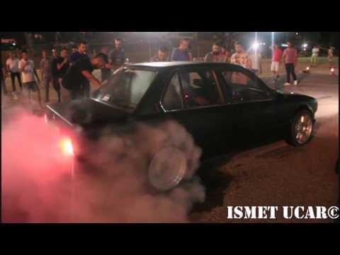 E30 M50 6466 Turbo Burnout - E30 Kesici Lastik Yakma, Burnout