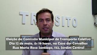 Esta sexta ocorre eleição para a Comissão Municipal de Transporte Coletivo