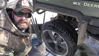 ZIP TIE SNOW TIRE HACK....WILL IT WORK?