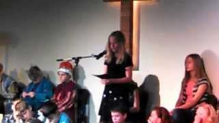 Kaleigh, Christmas Program, December 14, 2014