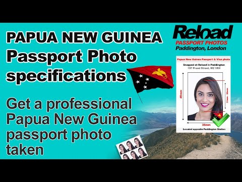 Papua New Guinea Passport Photo and Visa Photo snapped in Paddington, London