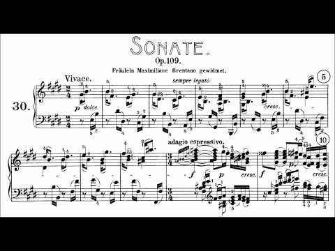 Beethoven: Sonata No.30 in E Major, Op.109 (Goode, Levit)