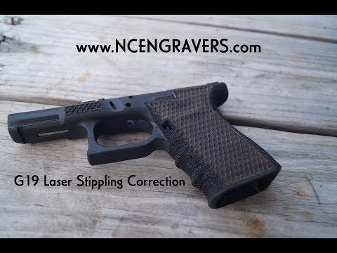 Laser Stippling Guns (Correcting a hand stipple job - Glock 19)