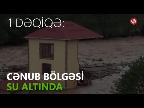 1DƏQİQƏ: Yağış cənub bölgəsini su altında qoyub