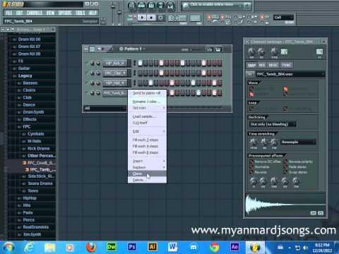 Myanmar FruityLoop Basic Part 01 Tutorial (Step Sequencer)