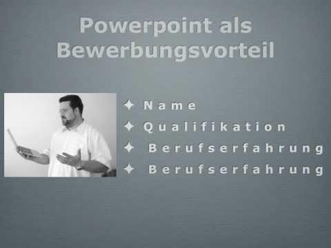 Powerpoint als Bewerbungsvorteil