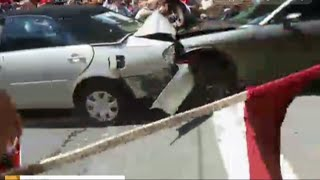 Cell Phone Video Shows Car Ramming Va. Protest