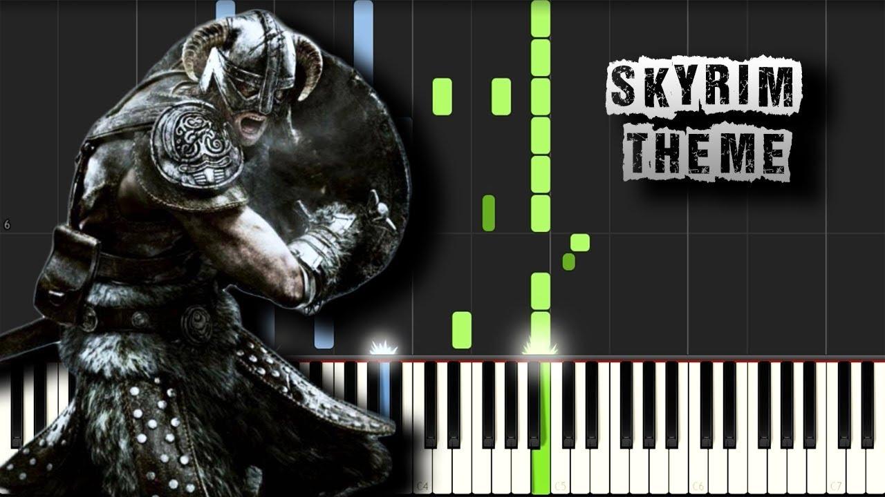 Skyrim Theme - Piano Tutorial Synthesia (Download MIDI)