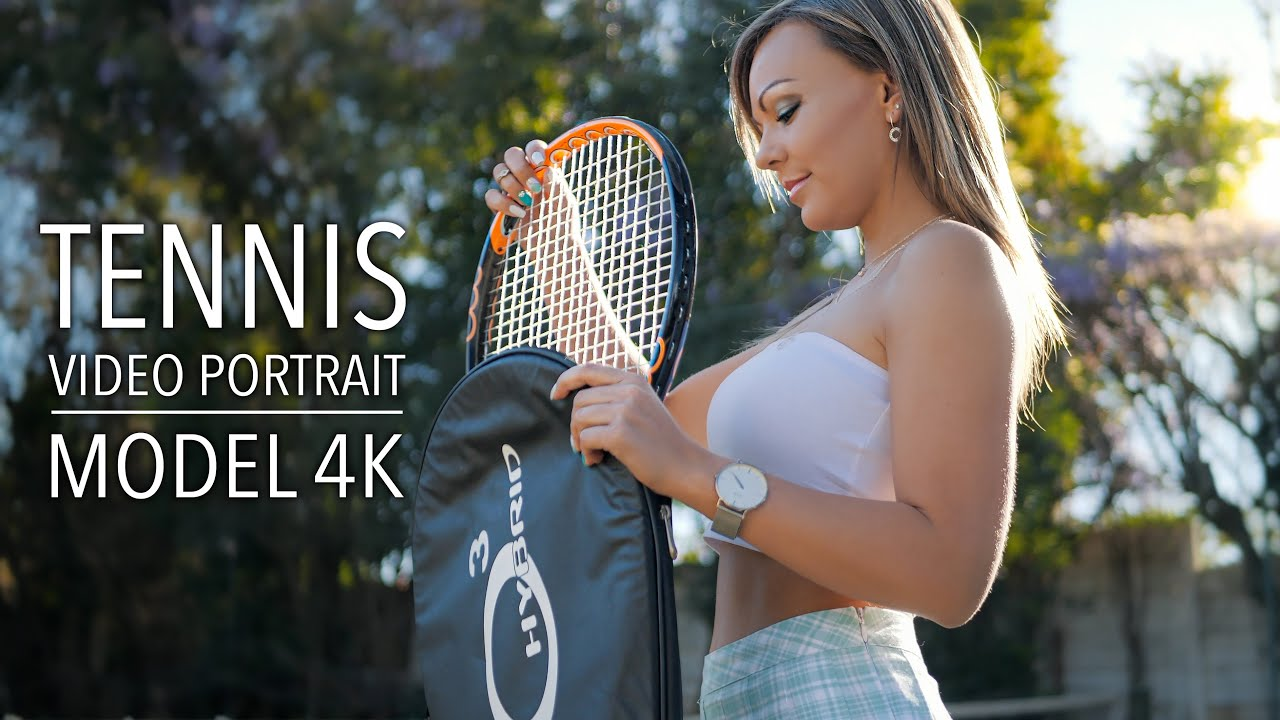 Video Portrait | Tennis Styled Model Shoot