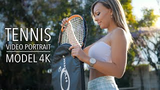 Video Portrait | Michelle | 4K Cinematic Tennis Stylised shot on Lumix GH5S