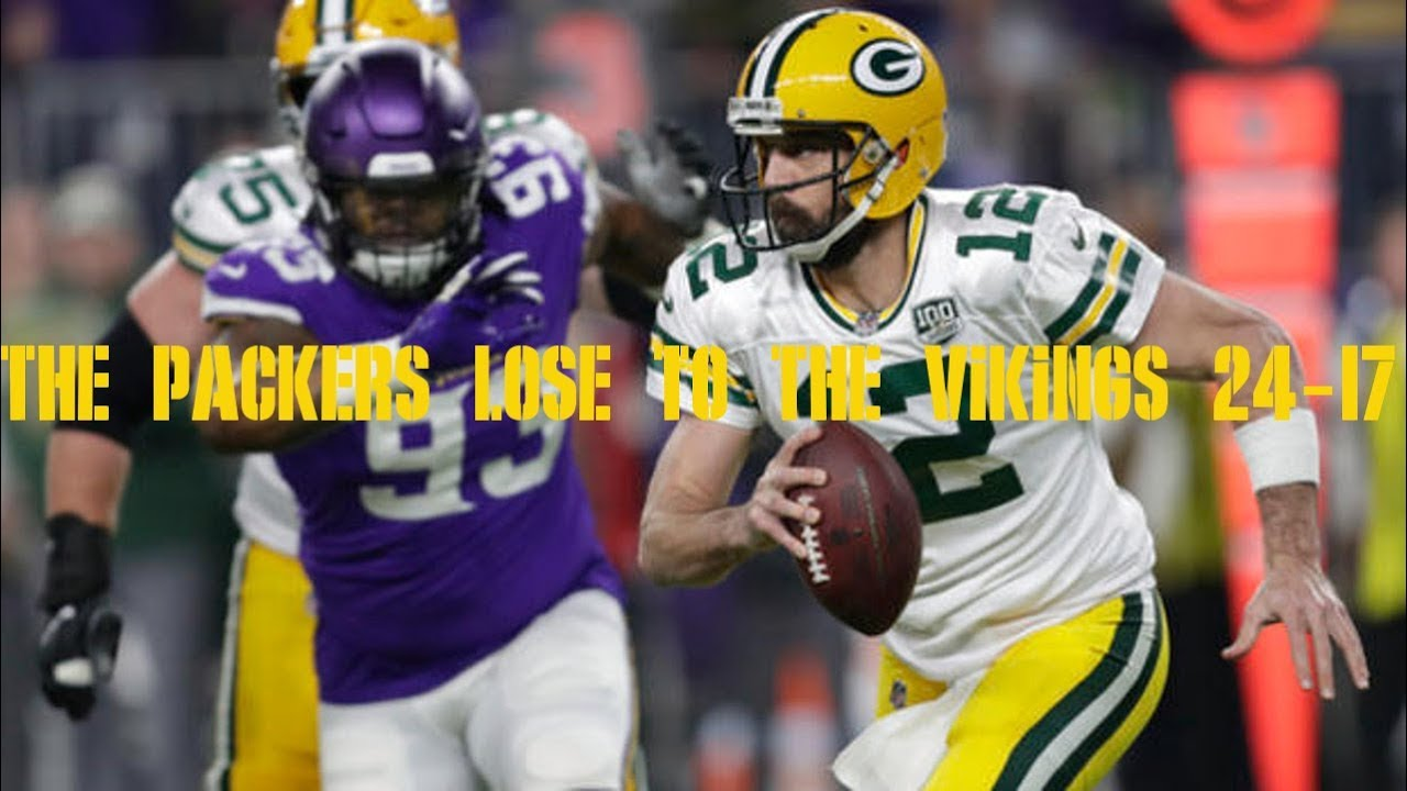 The Packers lose to the Vikings 24-17 and everything is worse now ... a1ea45fdb