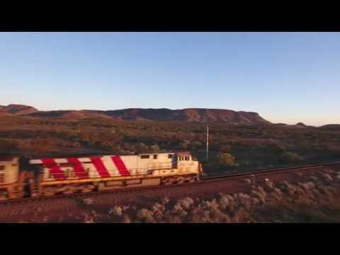 Rio Tinto Iron Ore Train Paraburdoo