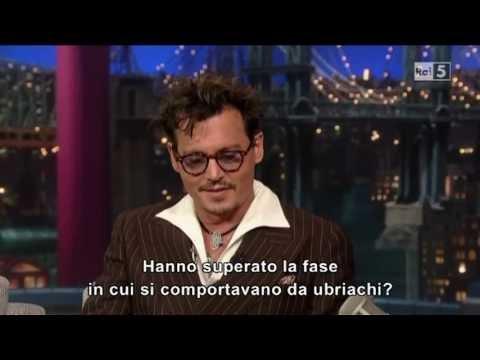 Johnny Depp @ David Letterman Show 27/06/13 SUB ITA  PARTE 1