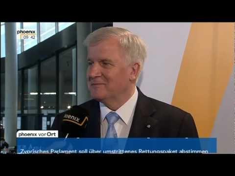 Horst Seehofer (CSU) im Interview vom 18.03.2013