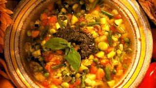 French Foods: Provençal Vegetable Soup (Soupe Au Pistou)