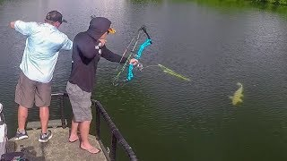 Bowfishing PREHISTORIC Fish in the Backwoods!!
