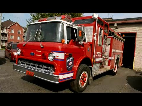 1990 FORD C 8000 FIRE TRUCK 2002 - START UP & MORE - YouTube