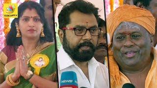 Senthil Sarathkumar & Bhuvaneshwari Spotted on Pasumpon Thevar BIRTH Anniversary